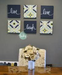 canvas painting set navy lime wall decor set