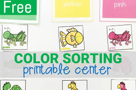 We have many printable coloring sheets from which you can pick out some for your kids to color. Free Printable Color Sorting Activity For Preschool And Kindergarten