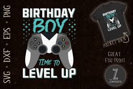 Use official vector asset studio instead. Birthday Boy Time To Level Up Video Game Graphic By Zemira Creative Fabrica