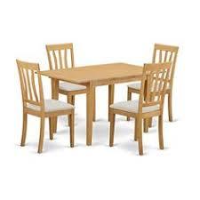 east west furniture norfolk 5 piece lath back dining table set