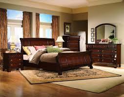 Sleigh Bed Bedroom Furniture Bedroom Design Comfortable Sleigh Bed For A Cozy Bedroom Cherry