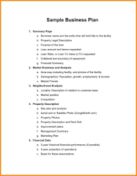 Example Of Business Plan Pdf Examples Free Parts Resume Template