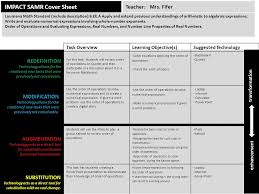 1 impact samr cover sheet task overviewlearning objective s suggested technology for this task students will review order of operations on quizlet and then