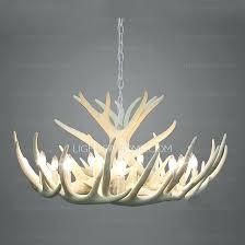 white antler chandelier diameter modern 9 light twig type small white antler chandelier