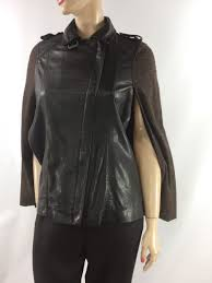 muubaa parma leather wool cape in brown uk10 us6 eu38 rrp 349