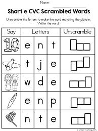 Click the buttons to print each worksheet and answer key. Cvc Words Scrambled Cvc Words Cvc Words Worksheets Cvc Worksheets Cvc Words Kindergarten