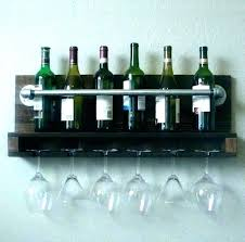 handmade wooden wine racks wood for wall rack unique glass holder mounted ha