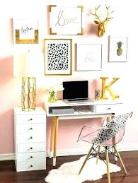 trendy office accessories. Gold Desk Accessories Trendy Home Office Trends Gallery Wall Pink Paint .