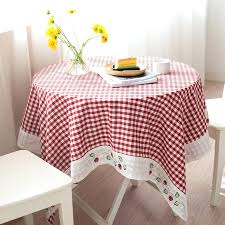 small round table cover tablecloth fabric dining table cloth rectangular small fresh literary tablecloth circular round table cloth square grid table cloth