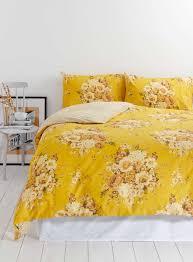 photo 2 of vintage nostalgia yellow fl bedding set