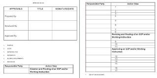 standard operating procedures template word policy and procedures template word fresh sop standard
