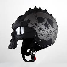 skull motorcycle helmet double lens harley helmet motorbike