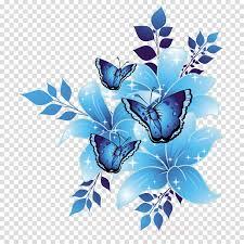Blue Designs Blue Flower Borders And Frames Clipart Flower Blue