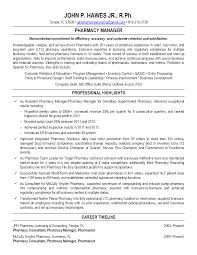 Sample Resume For Pharmacist Stunning Design Ideas Resume For