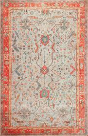 light blue antique turkish oushak rug 49145 nazmiyal