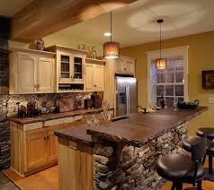 Rustic Kitchen Island Lighting Kitchen Design Rustic Cabin Kitchen Design With Vaulted Ceiling