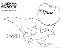 Small Picture The Good Dinosaur Colouring Pages Free printables