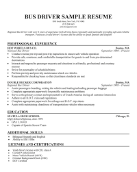 School Bus Driver Resume To Inspire You How To Make The Job Resume