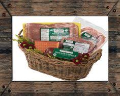 m706 79 95 with this gift basket have something from meacham hams for breakfast lunch and dinner bacon smoked cheddar cheese summer sausage