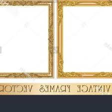 Golden Vintage Ornate Frames Set Vector ARENAWP