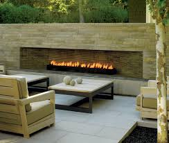 modern outdoor fireplace contemporary patio