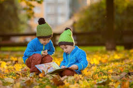 Image result for child fall tree reading