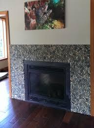 bali ocean pebble tile brick fireplace paintmosaic