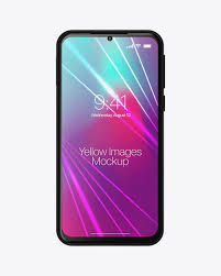 Xiaomi Redmi Note 7 Mockup In Device Mockups On Yellow Images Object Mockups