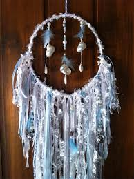 Beach Dream Catchers Dream Catcher White Decor Baby Boy Blue Bell Shell Star Bead Birth 23