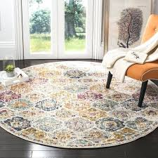 safavieh round rug bohemian vintage cream multi distressed area rug safavieh rugs 6x9