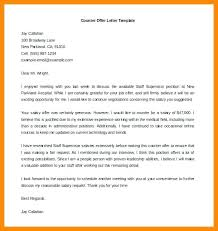 Counter Offer Letter Job Template On Example Word Free Of