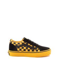 Vans Old Skool Checkerboard Skate Shoe Little Kid Big Kid Black Spectra Yellow