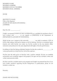 School Letters Templates 012 Template Ideas Letters Of Recommendation Graduate Letter