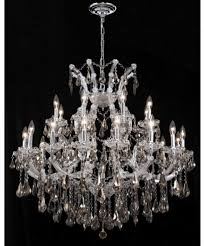 elehant lighting 2801d36c gt rc maria theresa 24 light large foyer chandelier in chrome
