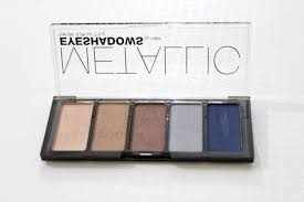 h m metallic eyeshadow palette