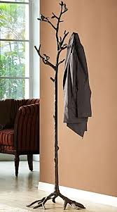 Coat Rack Tree Stand Fascinating Great Branch Coat Rack Bird On Lovebird Hat Hall Tree Stand Bronze