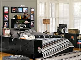 teenage guy bedroom furniture. Teen Boy Bedroom Ideas With Black Furniture Set And Grey Stripes Bedding Also Framed Wall Pictures Bookshelf Teenage Guy B
