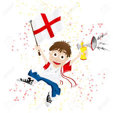 football fan clipart. vector - england sport fan with flag and horn stock 9399501 football clipart f