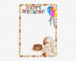 happy birthday kids transpa photo frame with cute birthday images for editing