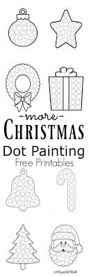 More Christmas Dot Painting Free Printables