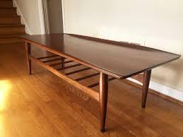 surfboard furniture. Mid Century Modern Bassett Artisan Walnut Surfboard Coffee Table Furniture