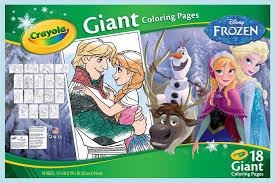Small Picture Amazoncom Crayola Frozen Giant Coloring Pages Toys Games