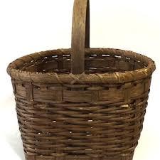 woven wood basket. Modren Wood Vintage Woven Wood Basket Primitive Home Decor Wooden Gatherin Throughout Woven Wood Basket B