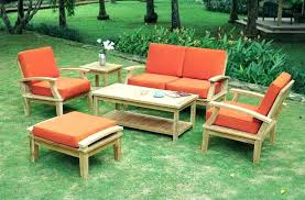 outdoor wood patio furniture wooden inspirational for or table set with cushion chairs