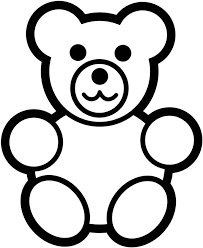 Small Picture teddy bear simple black white coloring pages online printablejpg