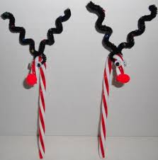 How To Decorate A Cane 100 Reindeer Red White Candy Cane Christmas Tree Ornaments 55