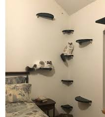 cat steps for wall floating corner cat tree set 4 cat shelves 4 cat steps lunar cat steps for wall