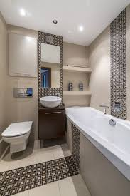 small bathroom ideas modern. Modern Small Bathroom Remodel Mixed With Wall Mounted Vanity And Round Sink Under Wide Mirror Plus Two White Shade Ceiling Lamps Ideas B