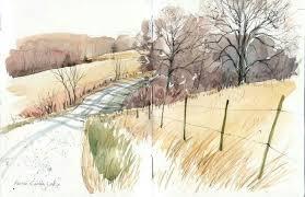 Cathy Johnson | Watercolour inspiration, Landscape drawings, Watercolor  landscape