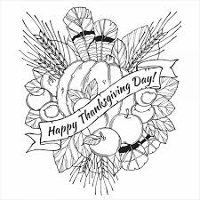 Small Picture Coloring Pages For Adults Thanksgiving Coloring Pages